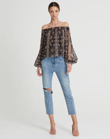 GWENDOLYN SILK BLOUSE IN DUSK