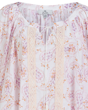 MELODY COTTON BLOUSE IN DAISY PAISLEY