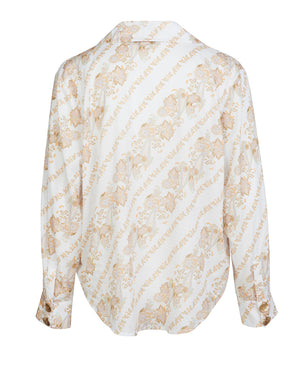BRONTE LOOSE SHIRT IN WHITE PAISLEY