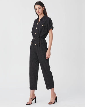 BRONWYN BOILERSUIT IN BLACK