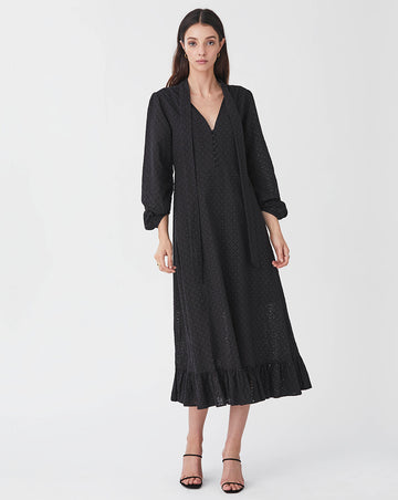 BRONWYN MIDI DRESS IN BLACK