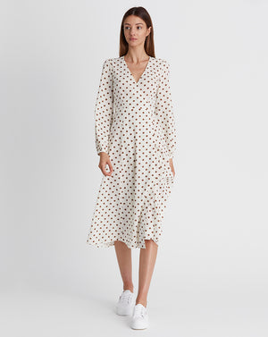 KINDRED HOLIDAY | WRAP DRESS IN SPOT