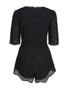 LUA ROMPER IN BLACK