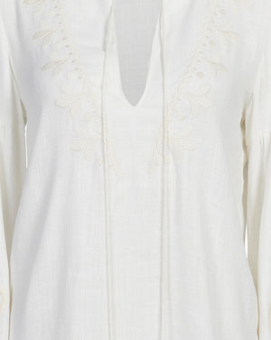 POSITANO BLOUSE IN IVORY FILIGREE