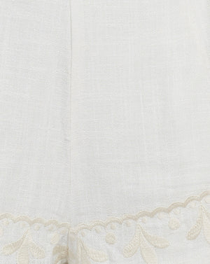 POSITANO SHORTS IN IVORY FILIGREE
