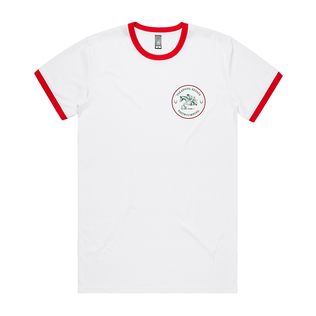 Men's Ringer Tee | White & Red