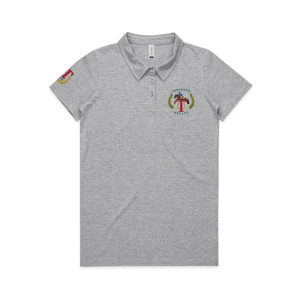 Woman's Polo | Grey Marle