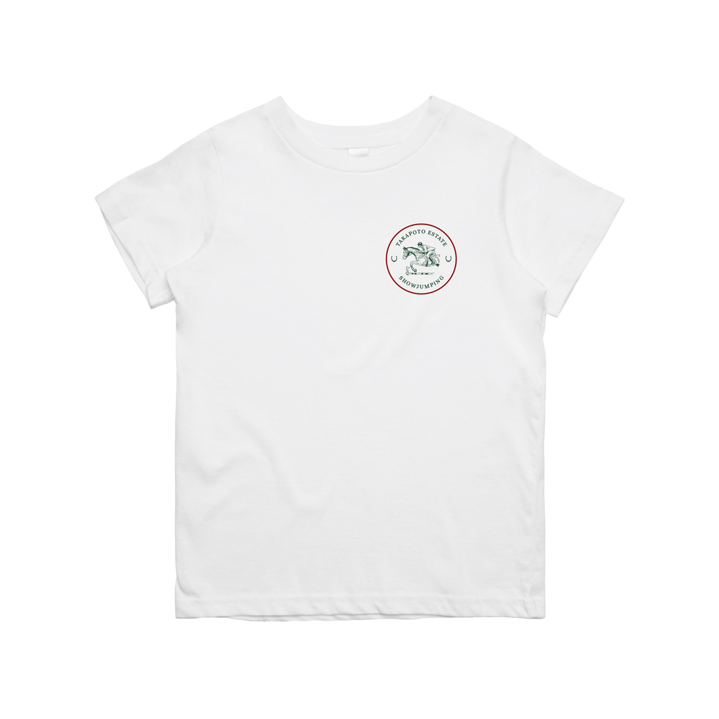 Youth Tee | White & Green & Red