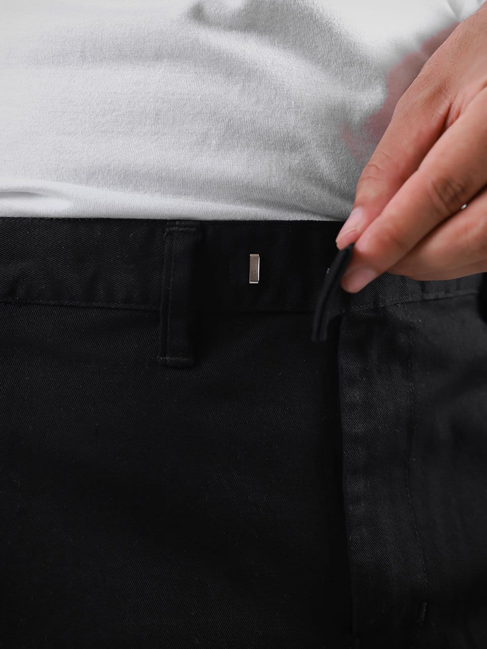 Semi Ankle Chino Pant Black
