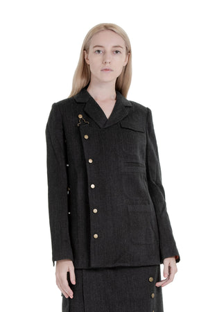 Worker lace-up blazer