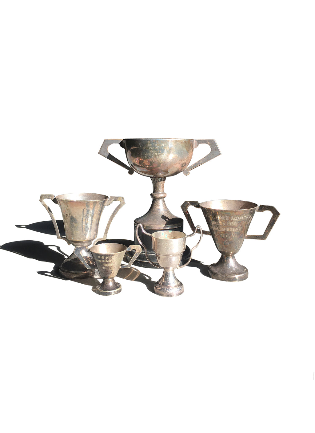 Vintage Mini Trophies Set