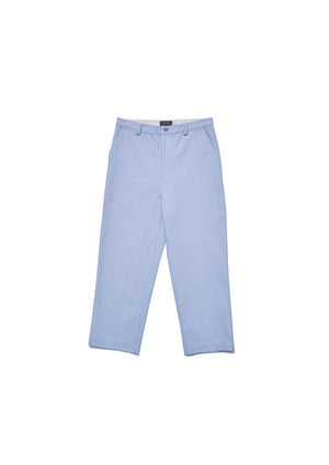 Cotton herringbone trousers
