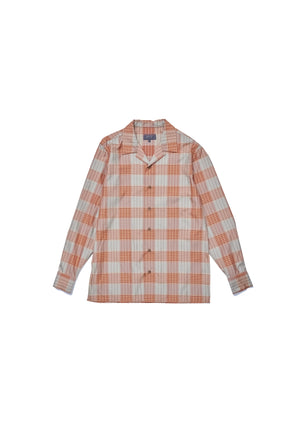 Caramel plaid shirt