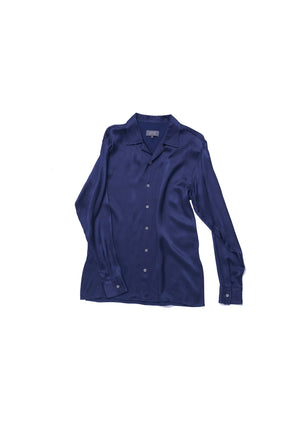 Navy viscose shirt