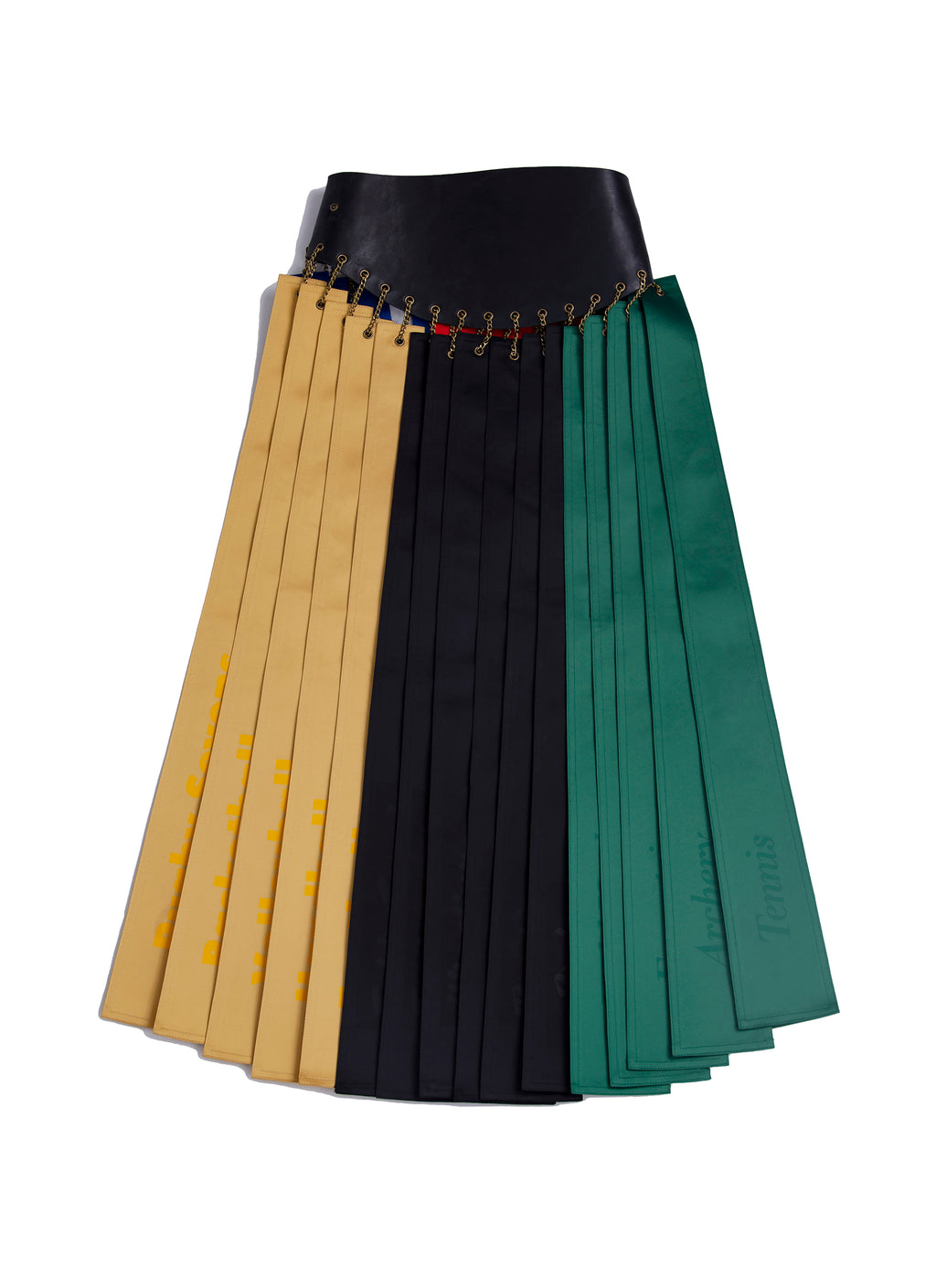 Etiquette Olympic leather skirt