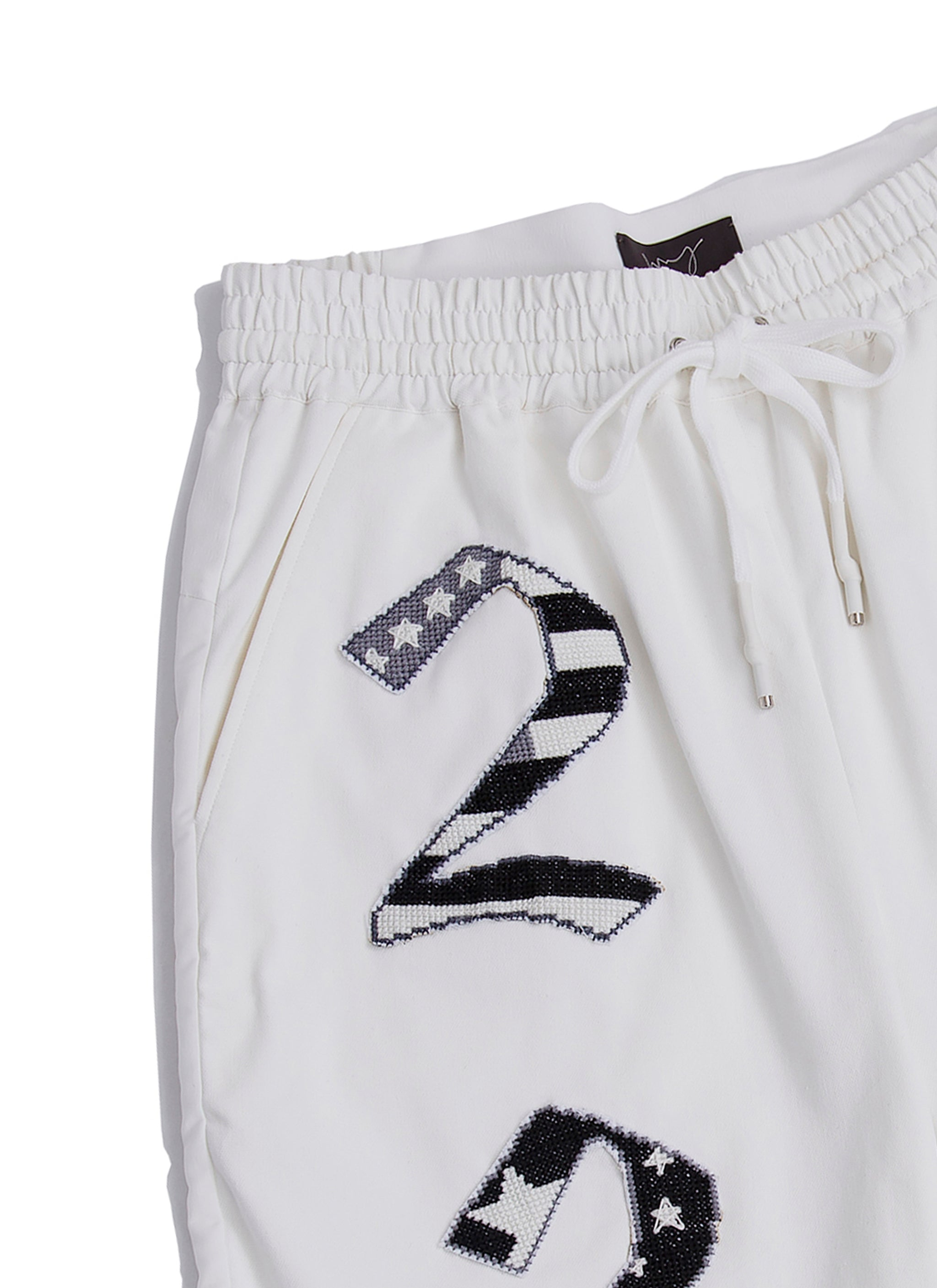 Cross stitches flags athlete shorts
