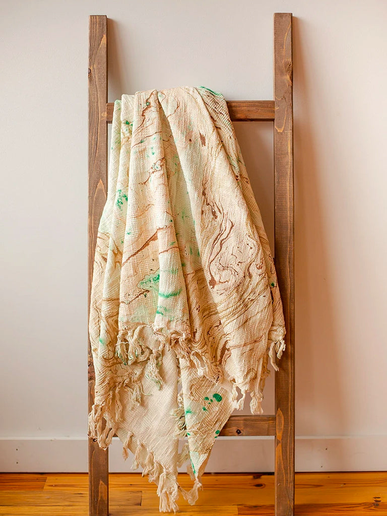 Marble Cotton Throw