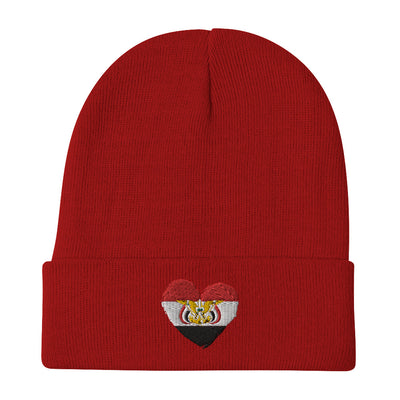 Yemen Flag Embroidered Beanie