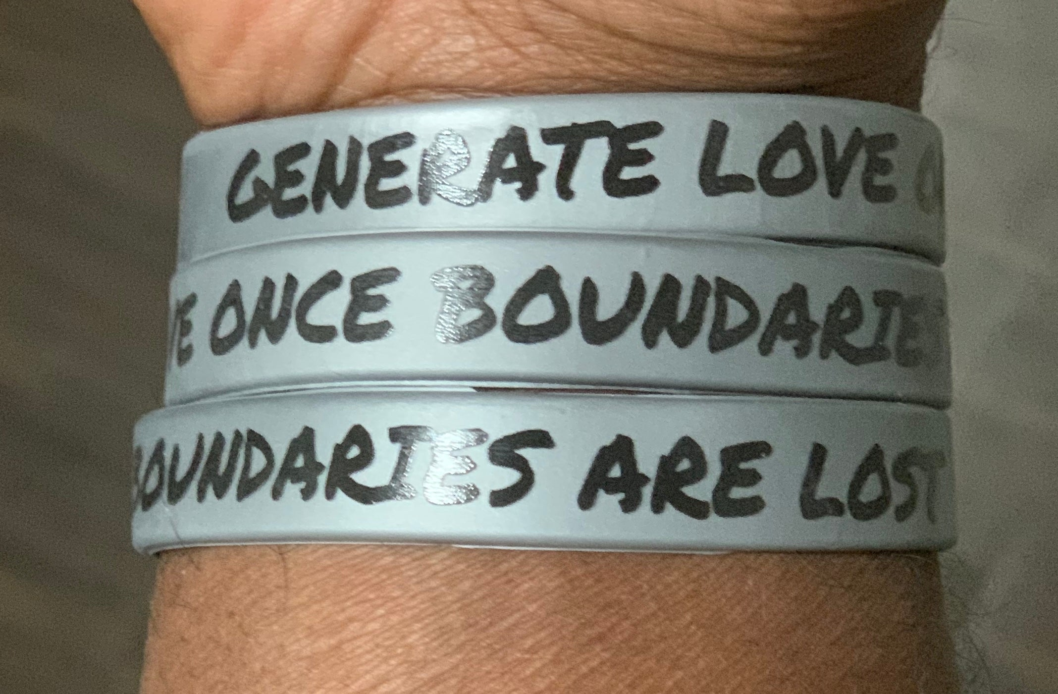 GLOBAL acronym wristband