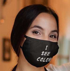 'I SEE COLOR' face mask - black