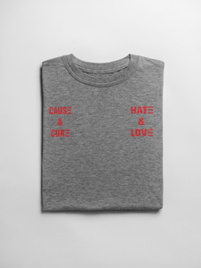 CAUSE & CURE Tee - Heather grey