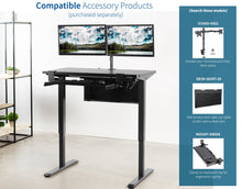 Load image into Gallery viewer, Electric StandingDesk Kit-43 Inches by 24 Inches Multiple Colors and Frames