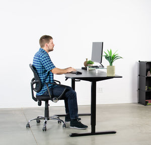 Tall Electric Height Adjustable Standing Desk-63""
