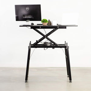 "44"" Black Electric Sit Stand Desk"