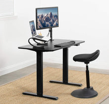 "Load image into Gallery viewer, Black Electric 44"" x 24"" Sit Stand Desk"