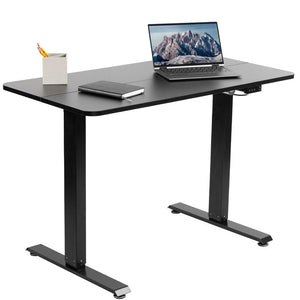 "Black Electric 44"" x 24"" Sit Stand Desk"