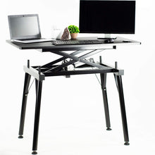 "Load image into Gallery viewer, 44"" Black Electric Sit Stand Desk"