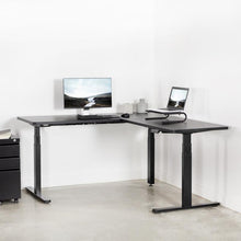 "Load image into Gallery viewer, L-Shaped Black Corner 67"" x 60"" Electric Desk"