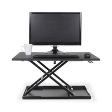 "Load image into Gallery viewer, Level Up 32"" Pneumatic Adjustable Desktop Desk"