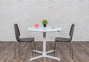 "ROUND CAFÉ TABLE-32"" PNEUMATIC HEIGHT ADJUSTABLE"