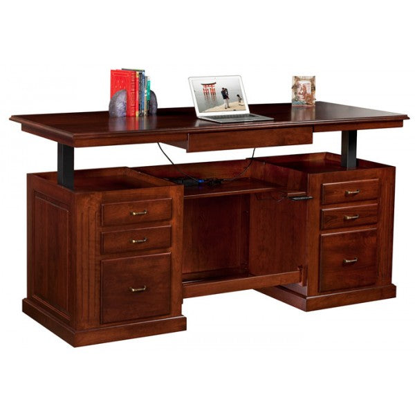 Sit-Stand Executive Desk