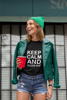 "Lady's T-Shirt ""Keep calm and Glück Auf"""
