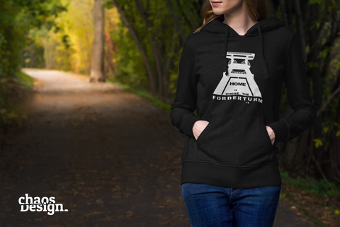 "Lady's Hoodie ""Home is where the Förderturm is"""