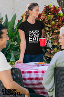 "Lady's T-Shirt ""Keep calm eat Currywurst"""