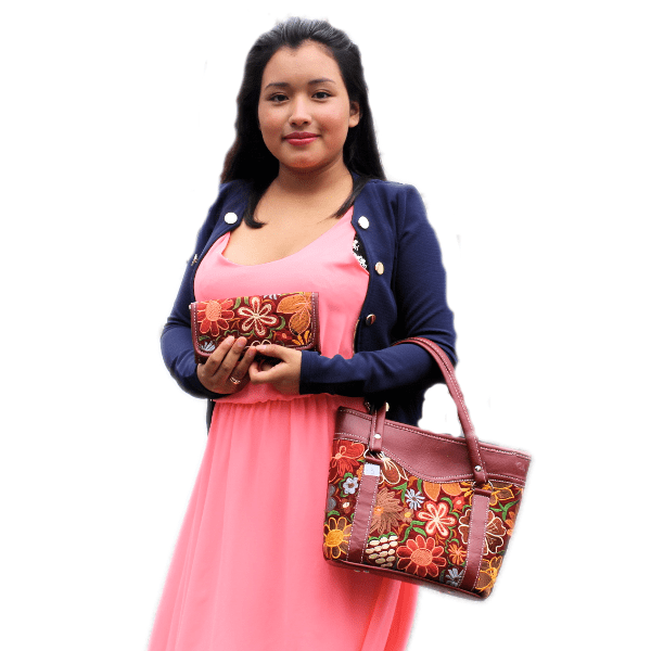 Two Piece Set Huipil/Women's handbag - Guatemalan Fashion guatemala dress guatemalan traje women fashion men fashion leathe handbags huipil handbag summer fashion