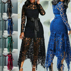 Women Spaghetti Straps Lace Mesh Perspective Party Fishtail Patchwork Jumpsuit - Guatemalan Fashion guatemala dress guatemalan traje women fashion men fashion leathe handbags huipil handbag summer fashion
