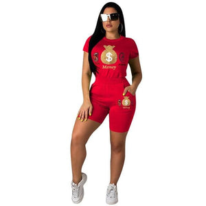 Women Summer Two Piece Set Tracksuit Jogger