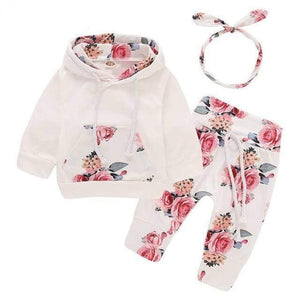 Floral newborn baby girl tracksuit clothes