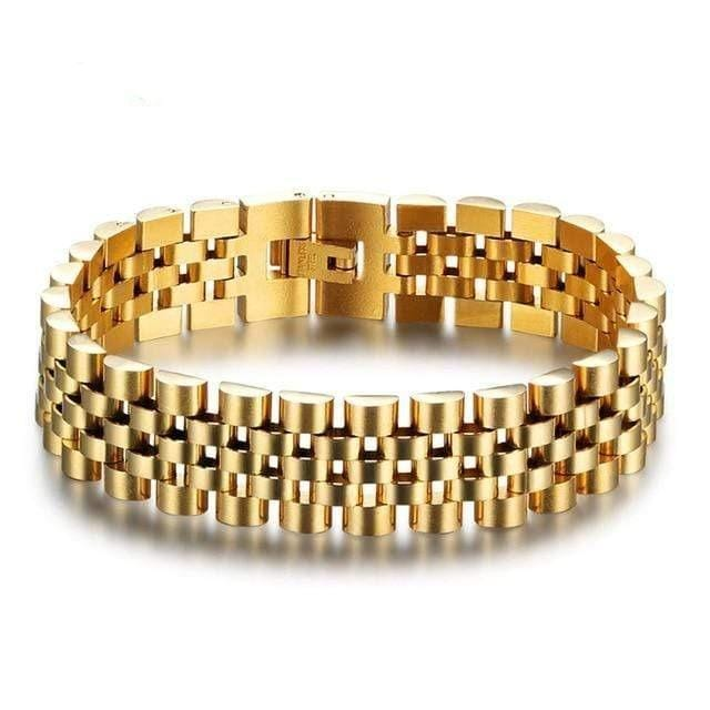 Luxury Gold Color Stainless Steel Bracelet 200mm