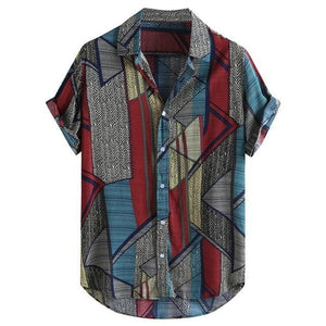 Men's Ethnic Style Casual Shirt Blouse
