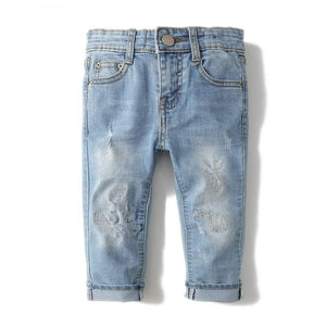 Boys Jean Girls Denim Trousers broken hole
