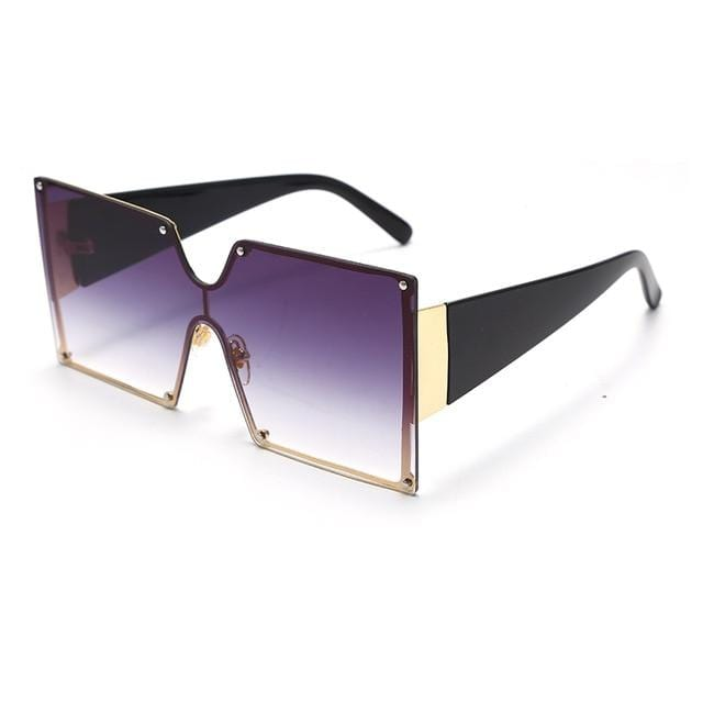 Square Sunglasses Women Oversized Gradient