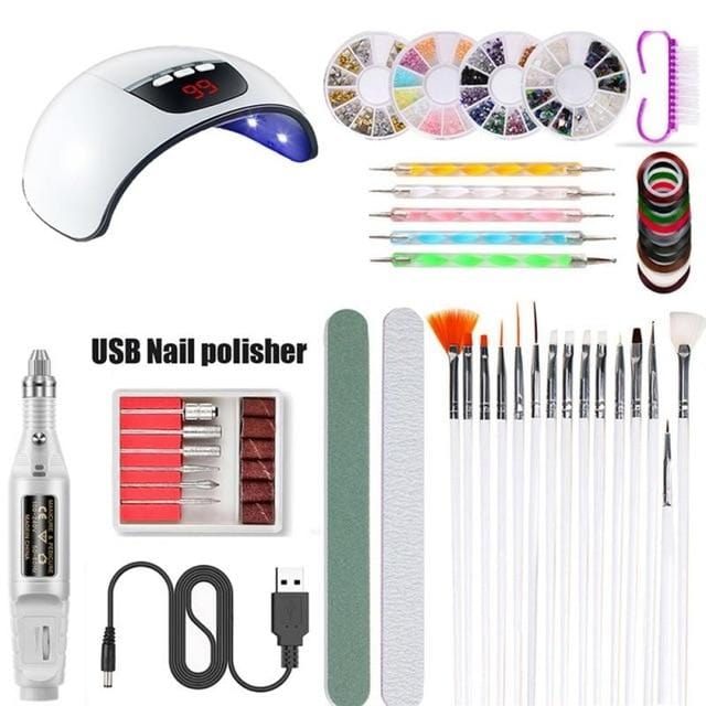 Super Manicure Nail Kit LED Nail Lamp Dryer
