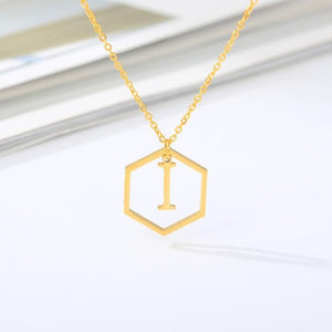 Women Stainless Steel A-Z Alphabet Necklaces