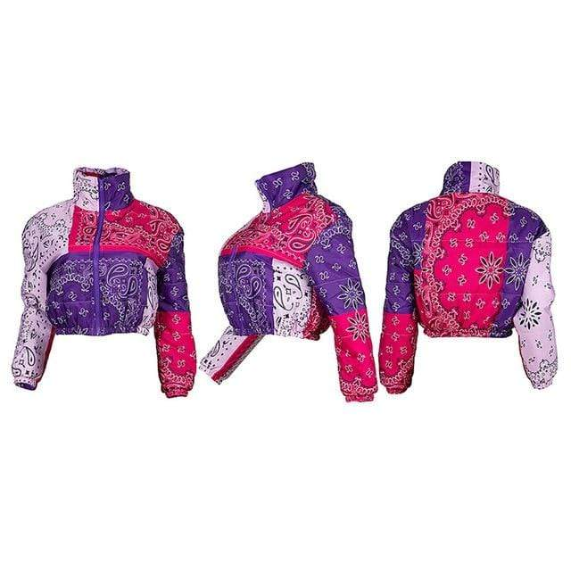 Winter Parkas Coats Bandana Women Jacket