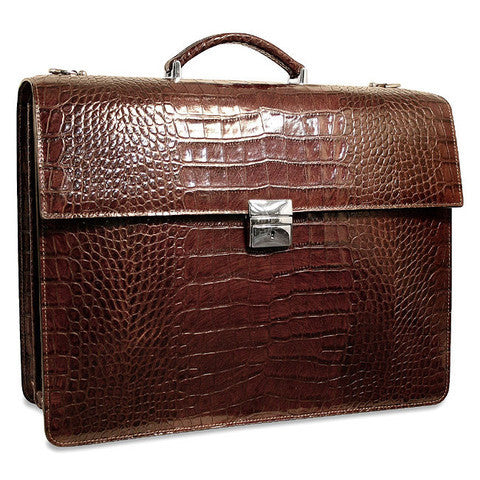 Leather Flapover Briefcases